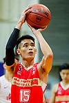 Ng Ka Hin #15 of Nam Ching Basketball Team concentrates prior to a free throw during the Hong Kong Basketball League game between SCAA and Nam Ching at Southorn Stadium on May 4, 2018 in Hong Kong. Photo by Yu Chun Christopher Wong / Power Sport Images