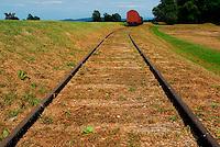 Jasenovac / Croazia.Il Campo di concentramento di Jasenovac fu il più grande campo di concentramento costruito nei Balcani durante la seconda guerra mondiale, creato dallo Stato Indipendente di Croazia, retto di fatto da Ante Paveli, alleato delle potenze dell'Asse..Si trova nei pressi dell'omonimo paese sulle rive del fiume Sava, ad un centinaio di chilometri a sud-est di Zagabria, vicino all'attuale confine croato-bosniaco..Nell'area di Jasenovac e nella vicina Stara Gradisca furono uccisi almeno 500.000 serbi, oppositori del regime, ebrei e rom..Durante il recente conflitto degli anni '90, la zona fu contesa tra serbi e croati ed il museo fu gravemente danneggiato. Nella foto, i binari ferroviari usati per trasportare i prigionieri al campo di sterminio..Foto Livio Senigalliesi..Jasenovac / Croatia.Jasenovac concentration camp was the largest extermination camp in the Independent State of Croatia (NDH) and occupied Yugoslavia during World War II. The camp was established by the Croatian Ustasha regime in August 1941 and dismantled in April 1945. In Jasenovac, the largest number of victims (at least 500.000) were ethnic Serbs, whom Ante Paveli considered the main racial opponents of Croatia, alongside the Jews and Roma peoples..In the picture, the railway line used to transport the prisoners to the concentration camp..Photo Livio Senigalliesi