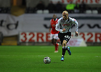 ATTENTION SPORTS PICTURE DESK<br /> Pictured: David Cotterill of Swansea City in action<br /> Re: Coca Cola Championship, Swansea City Football Club v Nottingham Forest at the Liberty Stadium, Swansea, south Wales. Saturday 12 December 2009