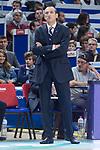 Movistar Estudiantes coach Salva Maldonado during Liga Endesa match between Movistar Estudiantes and Montakit Fuenlabrada at Wizink Center in Madrid, Spain. November 12, 2017. (ALTERPHOTOS/Borja B.Hojas)
