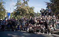 photographers covering the finish podium<br /> <br /> Women Elite - Road Race (WC)<br /> from Antwerp to Leuven (158km)<br /> <br /> UCI Road World Championships - Flanders Belgium 2021<br /> <br /> ©kramon