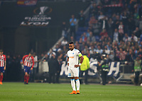 16th May 2018, Stade de Lyon, Lyon, France; Europa League football final, Marseille versus Atletico Madrid; Dimitri Payet of Marseille with an injury and looking disappointed before being subbed off