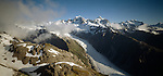 Fox Glacier in Westland National Park New Zealand.