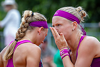 Paris, France, 01 June, 2018, Tennis, French Open, Roland Garros, Womans Doubles : Kiki Bertens (NED) (R) and Johanna Larsson (SWE)<br /> Photo: Henk Koster/tennisimages.com