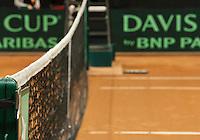 14-sept.-2013,Netherlands, Groningen,  Martini Plaza, Tennis, DavisCup Netherlands-Austria, Doubles,   Net<br /> Photo: Henk Koster