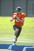 Virginia's Brendan Lane during open spring practice for the Virginia Cavaliers football team August 7, 2009 at the University of Virginia in Charlottesville, VA. Photo/Andrew Shurtleff