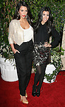 Kim Kardashian and Kourtney Kardashian attends The 2011 QVC Red Carpet Style Party held at The Four Seasons Hotel in Beverly Hills, California on February 25,2011                                                                               © 2010 Hollywood Press Agency