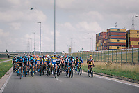 """harbour backdrop<br /> <br /> Antwerp Port Epic 2018 (formerly """"Schaal Sels"""")<br /> One Day Race:  Antwerp > Antwerp (207 km; of which 32km are cobbles & 30km is gravel/off-road!)"""