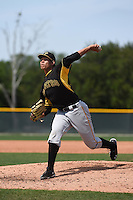 Pittsburgh Pirates pitcher Gerardo Navarro (26) during a minor league spring training game against the New York Yankees on March 22, 2014 at Pirate City in Bradenton, Florida.  (Mike Janes/Four Seam Images)