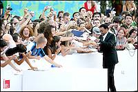 """Spike Lee signe des autographes sur le tapis rouge avant la projection du film """"Cassandra'dream"""" - Festival de Venise 2007"""
