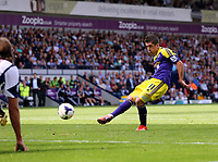 Pictured: Pablo Hernandez of Swansea scoring, making the score 0-2 to his team.. Sunday 01 September 2013<br /> Re: Barclay's Premier League, West Bromwich Albion v Swansea City FC at The Hawthorns, Birmingham, UK.