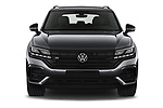 Car photography straight front view of a 2021 Volkswagen Touareg R 5 Door SUV Front View