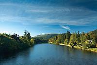 The River Tay from Dunkeld Bridge, Dunkeld Perthshire