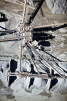 aerial photograph Dutra quarry San Rafael, Marin County, California