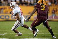 TEMPE, AZ - November 13, 2010: Doug Baldwin during a football game at Arizona State University in Tempe, Arizona. Stanford won 17-13.