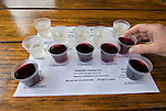 Wine samples at Ferrante winery near Harpersfield township, Ohio