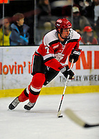 3 January 2009: St. Lawrence Saints' defenseman Matt Generous, a Sr.. from Cheshire, CT, in action against the University of Vermont Catamounts during the championship game of the Catamount Cup Ice Hockey Tournament at Gutterson Fieldhouse in Burlington, Vermont. The Cats defeated the Saints 4-0 and won the tournament for the second time since its inception in 2005...Mandatory Photo Credit: Ed Wolfstein Photo