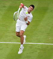22-6-09, England, London, Wimbledon, Novak Djokovic