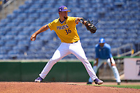 East Carolina Pirates pitcher Garrett Saylor (36) during a game against the Memphis Tigers on May 25, 2021 at BayCare Ballpark in Clearwater, Florida.  (Mike Janes/Four Seam Images)