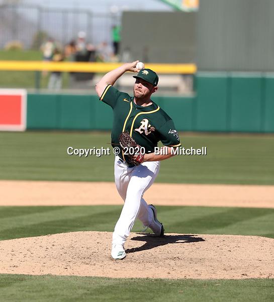 Liam Hendriks - Oakland Athletics 2020 spring training (Bill Mitchell)