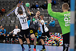Juri Knorr (GER) tankt sich durch bei der Euro-Qualifikation im Handball, Deutschland - Estland.<br /> <br /> Foto © PIX-Sportfotos *** Foto ist honorarpflichtig! *** Auf Anfrage in hoeherer Qualitaet/Aufloesung. Belegexemplar erbeten. Veroeffentlichung ausschliesslich fuer journalistisch-publizistische Zwecke. For editorial use only.
