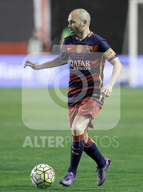 FC Barcelona's Andres Iniesta during La Liga match. March 3,2016. (ALTERPHOTOS/Acero)