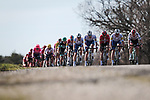 The peloton during Stage 6 of the 78th edition of Paris-Nice 2020, running 161.5km from Sorgues to Apt, France. 13th March 2020.<br /> Picture: ASO/Fabien Boukla | Cyclefile<br /> All photos usage must carry mandatory copyright credit (© Cyclefile | ASO/Fabien Boukla)