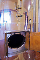 Fermentation tank, pressurised. Amyntaion wine cooperative, Amyndeon, Macedonia, Greece