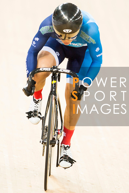 Lee Wai Sze of the Hong Kong team competes in the Women's Sprint - Quarterfinals as part of the 2017 UCI Track Cycling World Championships on 13 April 2017, in Hong Kong Velodrome, Hong Kong, China. Photo by Marcio Rodrigo Machado / Power Sport Images