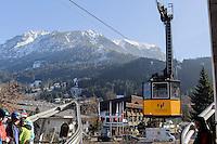 Seilbahn auf das Nebelhorn bei  Oberstdorf im Allgäu, Bayern, Deutschland<br /> cable car onto Mt.Nebelhorn near Oberstdorf, Allgäu, Bavaria, Germany