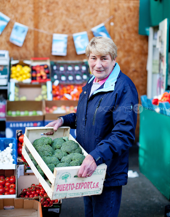 26/8/2011. Dublin Fruit and Vegetable Market. Anna Lawlor of J and N Lawlor. Picture James Horan/Collins Photos