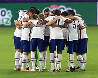 ORLANDO, FL - JANUARY 31: USMNT starting XI during a game between Trinidad and Tobago and USMNT at Exploria stadium on January 31, 2021 in Orlando, Florida.