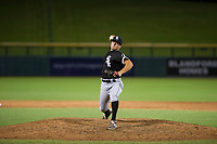 AZL White Sox relief pitcher Vince Arobio (38) delivers a pitch to the plate against the AZL Cubs on August 13, 2017 at Sloan Park in Mesa, Arizona. AZL White Sox defeated the AZL Cubs 7-4. (Zachary Lucy/Four Seam Images)
