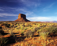 Mitchell Butte in the early morning, Monument Valley, Utah/Arizona border, US