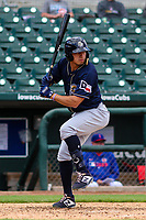San Antonio Missions outfielder Tyrone Taylor (15) at bat during a Pacific Coast League game against the Iowa Cubs on May 2, 2019 at Principal Park in Des Moines, Iowa. Iowa defeated San Antonio 8-6. (Brad Krause/Four Seam Images)