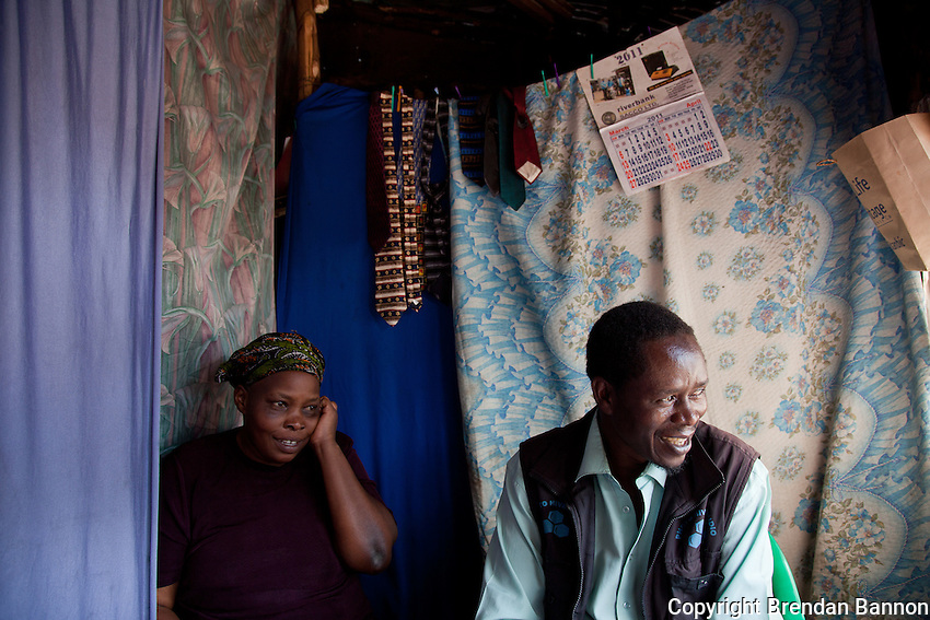 Husband and wife photohrapers,Teresa Atieno and Peter Otieno at  their studio in Kibera, Nairobi.