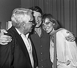 GIUSEPPE PATRONI GRIFFI, MASSIMO RANIERI E IVANA MONTI<br /> PREMIO SANDRO GIOVANNINI - TEATRO SISTINA ROMA 1982