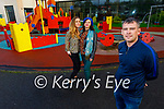 Local Killorglin residents at the playground on Monday and are hoping the playground can receive a deep clean, l to r: Lisa Kelliher and Madeline Kalanowska and Councillor John Francis Flynn.