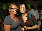 Mandy Graessle and Nancy Zastudil at the Luck of the Draw benefit at Diverse Works Wednesday July  01, 2009. (Dave Rossman/ For the Chronicle)