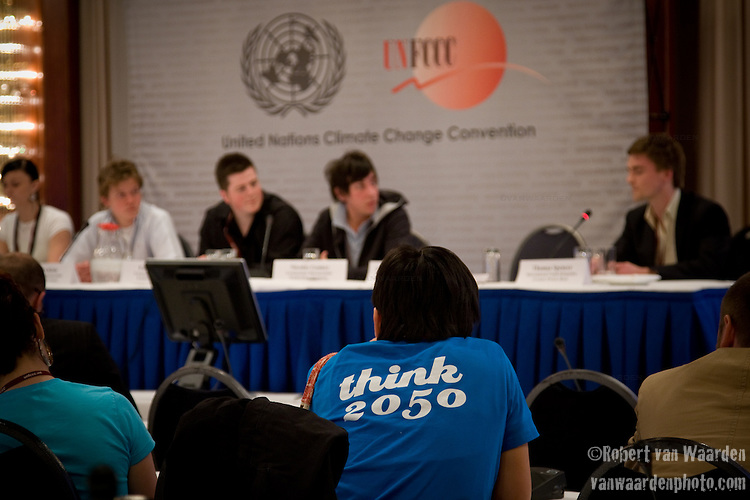 Think 2050 - Press conference at the UNFCCC in Bonn. (©Robert vanWaarden All Rights Reserved)