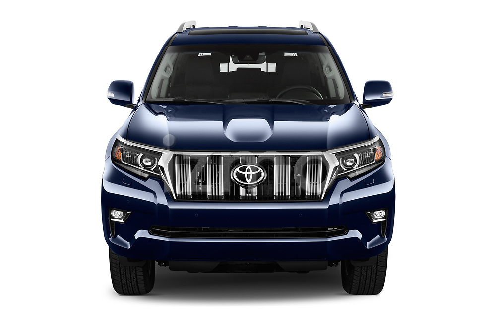 Car photography straight front view of a 2018 Toyota Land-Cruiser-150 Lounge 5 Door SUV Front View