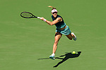 March 9, 2019: Angelique Kerber (GER) hits a forehand during her match where she defeated Yulia Putintseva (KAZ) 6-0, 6-2 at the BNP Paribas Open at the Indian Wells Tennis Garden in Indian Wells, California. ©Mal Taam/TennisClix/CSM