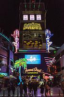 Las Vegas, Nevada.  Fremont Street.  SlotZilla, Starting Point for the Zipline and Zoomline Rides.