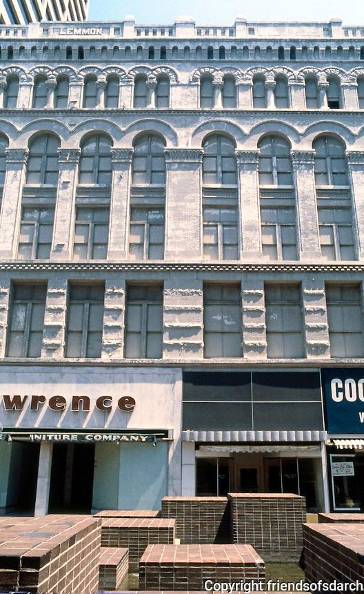 Memphis:  Mid-America Mall. Commercial buildings facades.