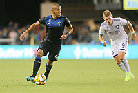 SAN JOSE, CA - AUGUST 31: Judson of the San Jose Earthquakes during a Major League Soccer (MLS) match between the San Jose Earthquakes and the Orlando City SC  on August 31, 2019 at Avaya Stadium in San Jose, California.