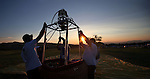 The sun rises during media day at the 32nd annual Great Reno Balloon Race in Reno, Nev., on Thursday, Sept. 5, 2013.  <br /> Photo by Cathleen Allison