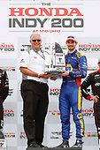 Alexander Rossi, Andretti Autosport Honda, podium, with Art StCyr of Honda
