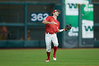 Cooper Coldiron (4) of the Houston Cougars on defense against the Vanderbilt Commodores during game nine of the 2018 Shriners Hospitals for Children College Classic at Minute Maid Park on March 3, 2018 in Houston, Texas. The Commodores defeated the Cougars 9-4. (Brian Westerholt/Four Seam Images)