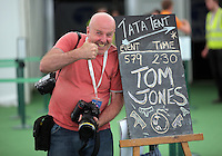 Hay on Wye. Sunday 05 June 2016<br />Photographer Keith Morris at the Hay Festival, Hay on Wye, Wales, UK