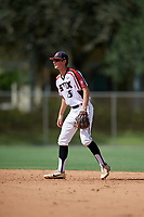 Hunter Teplanszky (15) during the WWBA World Championship at the Roger Dean Complex on October 10, 2019 in Jupiter, Florida.  Hunter Teplanszky attends Marcus High School in Flower Mound, TX and is committed to TCU.  (Mike Janes/Four Seam Images)